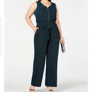 Ny collection plus jumpsuit Metallic sz 2X NWT